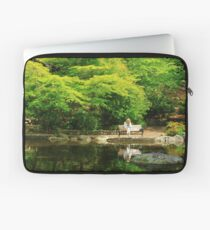 Reading At The Pond Laptop Sleeve