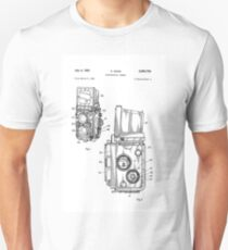 Rolleiflex Twin Lens Film Camera Vintage Patent Drawing  T-Shirt