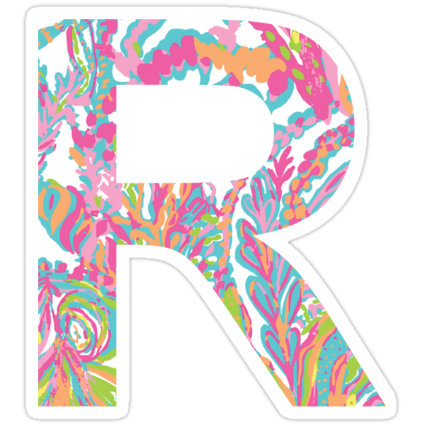 Quot Letter R Quot Stickers By Caro111111 Redbubble