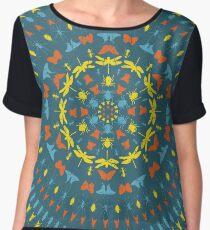 Insect Mandala Women's Chiffon Top