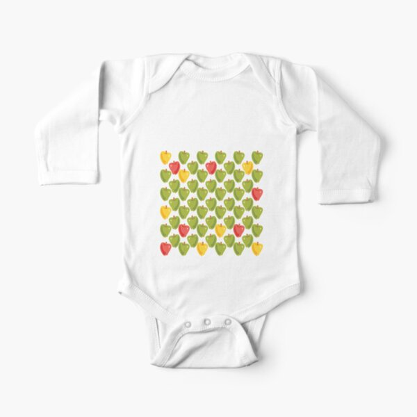 Sweet Apples Long Sleeve Baby One-Piece
