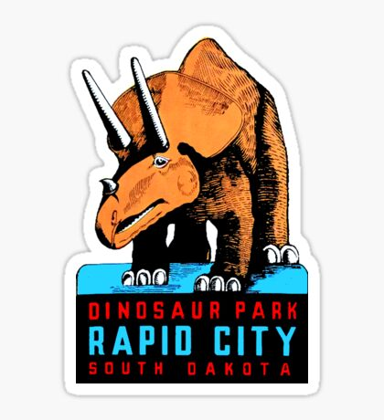 Dinosaur Park South Dakota Vintage Travel Decal Sticker