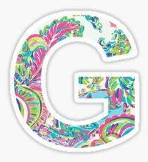 Letter G Sticker