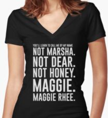 Maggie.MaggieRhee Women's Fitted V-Neck T-Shirt