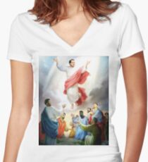 Hinkie Died For Our Sins Women's Fitted V-Neck T-Shirt