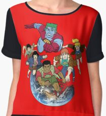 Captain planet team Chiffon Top