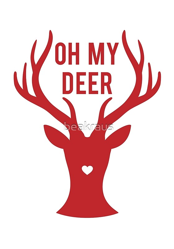 reindeer head with text oh my deer for valentine 39 s day
