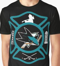 San Jose Fire - Sharks style Graphic T-Shirt