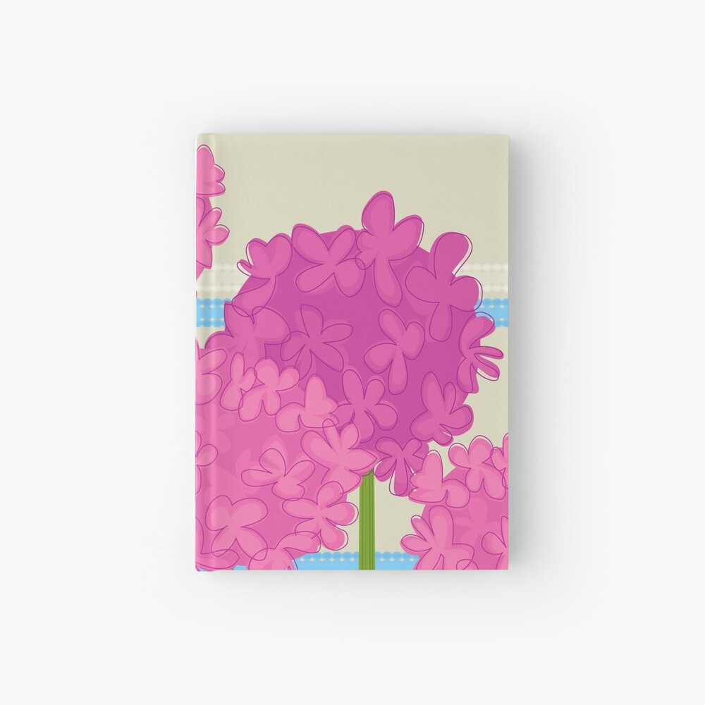 Pink Hydrangeas Hardcover Journal