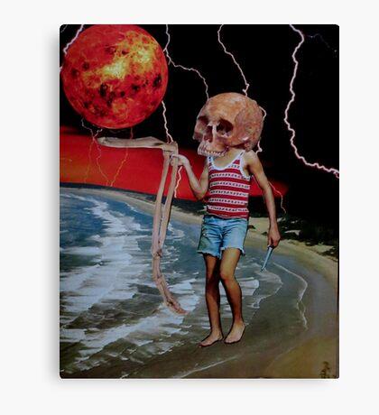 Dark Day At The Beach Canvas Print