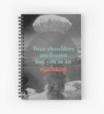 Cuaderno de espiral Eres una Explosión