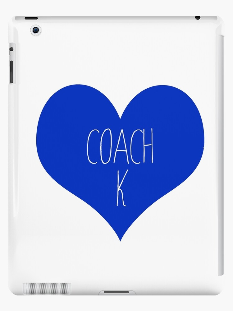 Coach K Duke Blue Devils Ipad Cases Skins By Linnnna Redbubble