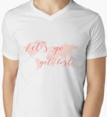 Let's go get lost world map T-Shirt