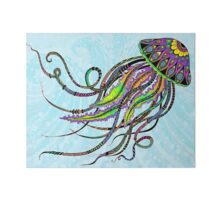 Quot Electric Jellyfish Quot Stickers By Tammy Wetzel Redbubble