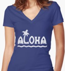 Aloha! Women's Fitted V-Neck T-Shirt