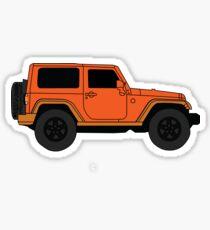 Orange Jeep Sticker