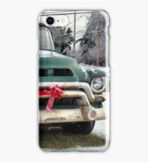Santa's Coming in a Pick-up Truck... iPhone Case/Skin