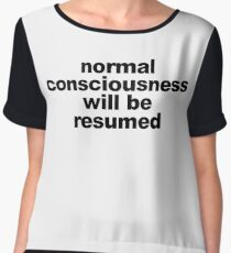 Normal Consciousness Will Be Resumed (Lucifer) Chiffon Top