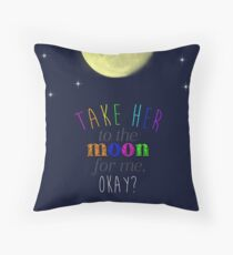 Take Her To The Moon Throw Pillow