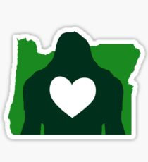 I Heart Oregon & Bigfoot Sticker