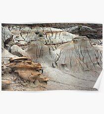 Badlands formations Poster
