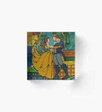 Beauty and The Beast - Stained Glass Acrylic Block