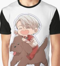 Yuri!!! on Ice Chibi Vik and co. Graphic T-Shirt