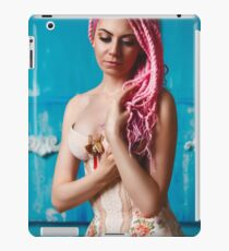 Freaky young female model wearing corset iPad Case/Skin