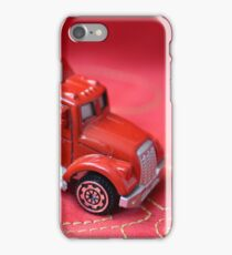 Christmas red macro toy truck  iPhone Case/Skin