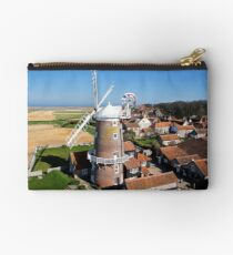Cley Windmill - Unusual Aeriel shot Studio Pouch