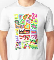 FELLING GROOVY | THE COLOUR RIOT | HAND DRAWN PSYCHEDELIC WHITE BACKGROUND Unisex T-Shirt