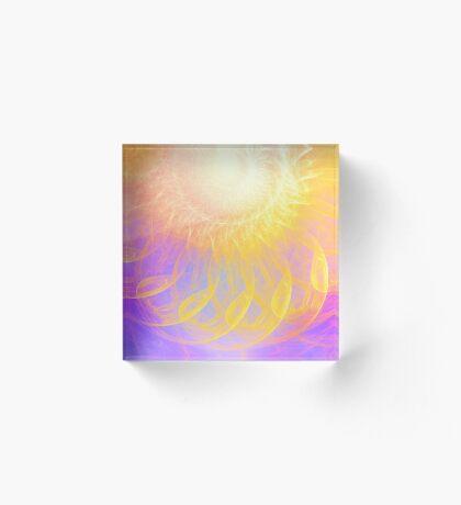 Sunny #Fractal Art Acrylic Block