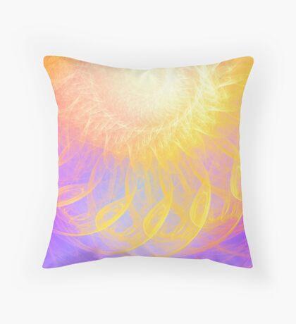 Sunny #Fractal Art Throw Pillow