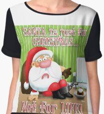 Santa's Just for Christmas Women's Chiffon Top