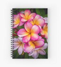 Raindrop Frangipanis Spiral Notebook