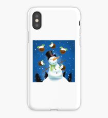 Juggling Snowman iPhone Case