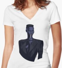 Grace Jones 1 Women's Fitted V-Neck T-Shirt