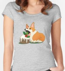 Christmas Corgi Women's Fitted Scoop T-Shirt