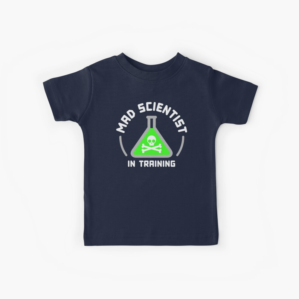Verrückter Wissenschaftler im Training Kinder T-Shirt