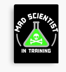 Mad Scientist in Training Canvas Print