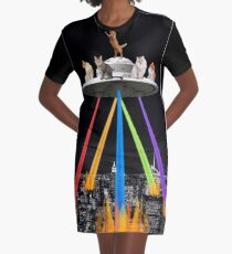 CAT INVADERS Graphic T-Shirt Dress