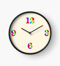 Rainbow Clock Face Clock