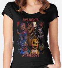 FNAF 2 animatronics Women's Fitted Scoop T-Shirt