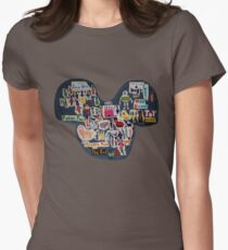 Mouse Ears Womens Fitted T-Shirt