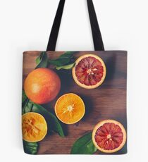 Still Life with Ripe Juicy Citrus Fruits Tote Bag