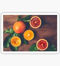 Still Life with Ripe Juicy Citrus Fruits Sticker