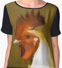 Polygon chicken Chiffon Top