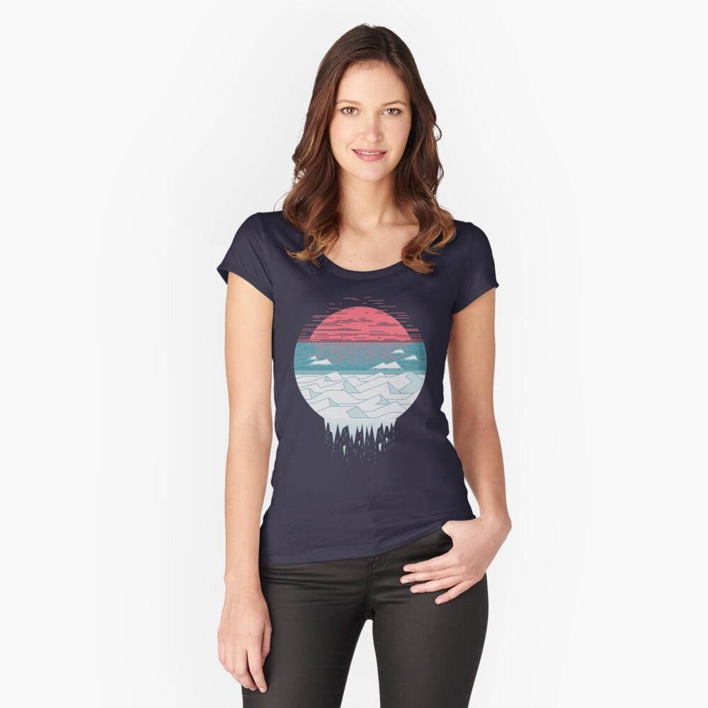 El gran deshielo Camiseta entallada de cuello ancho