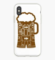 cool lederhose costume suit beer pitcher drinking drinking party celebrate drinking alcohol symbol cool shirt oktoberfest iPhone Case