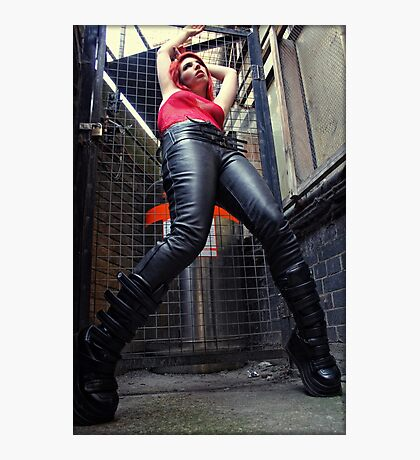 leather boots Photographic Print